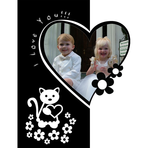 "Scrapbook template ""Black&White #01"" in ""Black&White"""