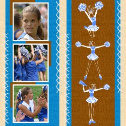"Scrapbook template ""Cheerleaders #13"" in ""Cheerleaders"""