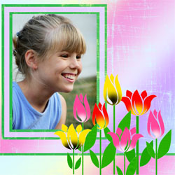 "Scrapbook template ""Spring #21"" in ""Spring"""