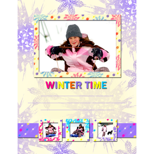 "Scrapbook template ""Winter time #11"" in ""Winter Vacation"""