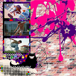 "Scrapbook template ""Skateboard #12"" in ""Sport"""