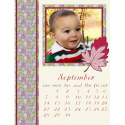 "Scrapbook template ""September #09"" in ""Calendars 2008"""