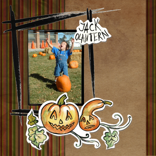"Scrapbook template ""Painted Halloween #04"" in ""Halloween"""