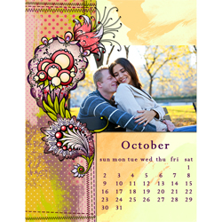 "Scrapbook template ""October #01"" in ""Calendars 2011"""