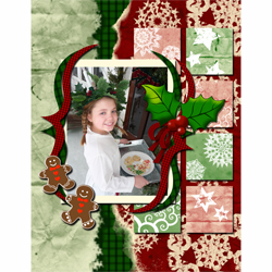 "Scrapbook template ""Christmas 09 #05"" in ""Christmas Scrapbooking"""