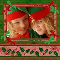 "Scrapbook template ""Christmas 2009 #07"" in ""Christmas Scrapbooking"""