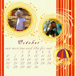 "Scrapbook template ""October #12"" in ""Calendars 2008"""