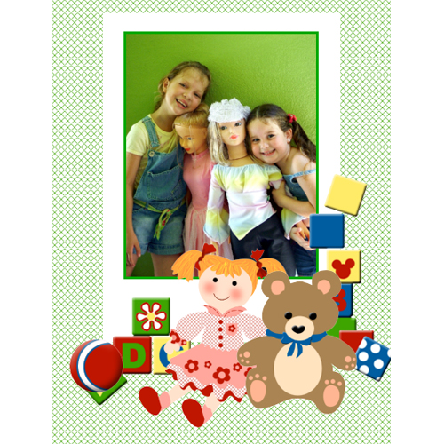 "Scrapbook template ""Toy Store #09"" in ""Baby Scrapbooking"""