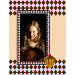 "Scrapbook template ""Food #07"" in ""Food"""