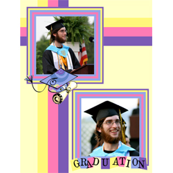 "Scrapbook template ""Graduation #11"" in ""Graduation"""