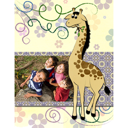 "Scrapbook template ""Funny zoo #05"" in ""Family"""
