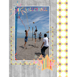 "Scrapbook template ""Volleyball #01"" in ""Sport"""