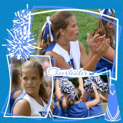 "Scrapbook template ""Cheerleaders #20"" in ""Cheerleaders"""