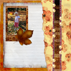 "Scrapbook template ""Fall #18"" in ""Fall"""