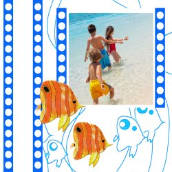 "Scrapbook template ""Sea life #02"" in ""Sea life"""
