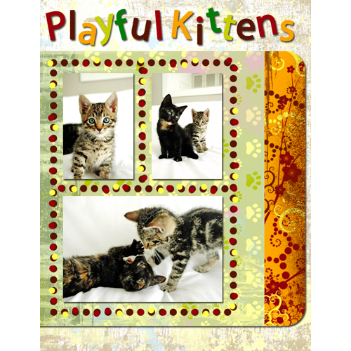 "Scrapbook template ""Cats Day #03"" in ""Pets"""