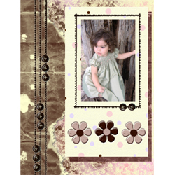 "Scrapbook template ""Shabby chic #11"" in ""Shabby chic"""
