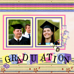 "Scrapbook template ""Graduation #12"" in ""Graduation"""