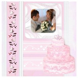 "Scrapbook template ""Wedding #7"" in ""Wedding Scrapbooking Templates"""