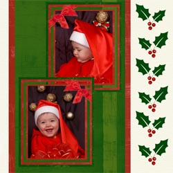 "Scrapbook template ""Christmas 2009 #11"" in ""Christmas Scrapbooking"""