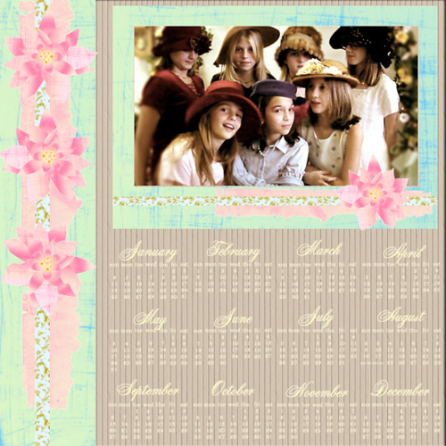 "Scrapbook template ""Calendar2009 #20"" in ""Calendars 2009"""