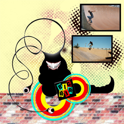 "Scrapbook template ""Skateboard #10"" in ""Sport"""