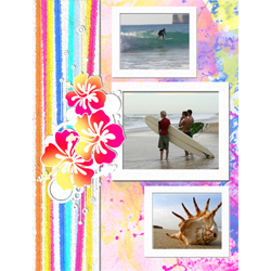 "Scrapbook template ""Surfing #19"" in ""Summer Vacation"""