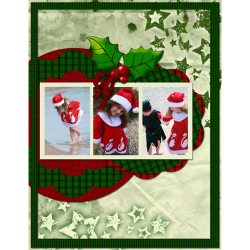 "Scrapbook template ""Christmas 09 #03"" in ""Christmas Scrapbooking"""