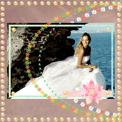 "Scrapbook template ""Wedding #20"" in ""Wedding Scrapbooking Templates"""
