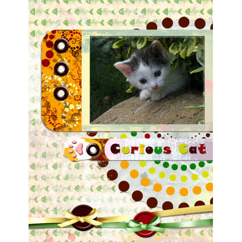 "Scrapbook template ""Cats Day #19"" in ""Pets"""
