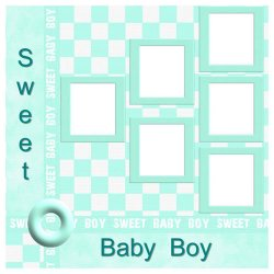 "Scrapbook template ""Sweet Baby Boy #2"" in ""Baby Scrapbooking"""