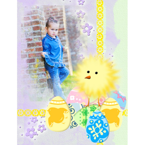 "Scrapbook template ""Easter #29"" in ""Easter"""