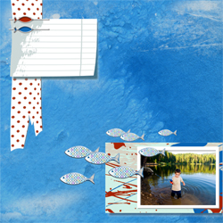 "Scrapbook template ""Fishing #20"" in ""Summer Vacation"""