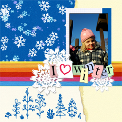"Scrapbook template ""Winter time #10"" in ""Winter Vacation"""