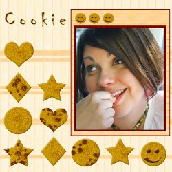 "Scrapbook template ""Cooking #14"" in ""Cooking"""