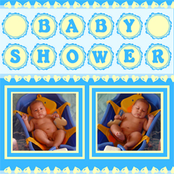 "Scrapbook template ""Baby Shower #14"" in ""Baby Shower"""