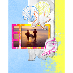 "Scrapbook template ""Surfing #09"" in ""Summer Vacation"""