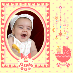 "Scrapbook template ""Baby Shower #08"" in ""Baby Shower"""
