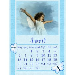"Scrapbook template ""April #06"" in ""Calendars 2008"""