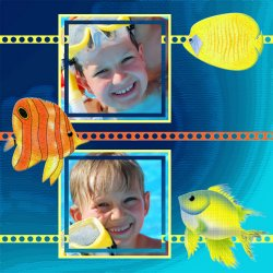 "Scrapbook template ""Sea life #07"" in ""Sea life"""
