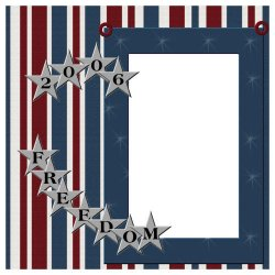 "Scrapbook template ""Freedom Template #1"" in ""Military"""