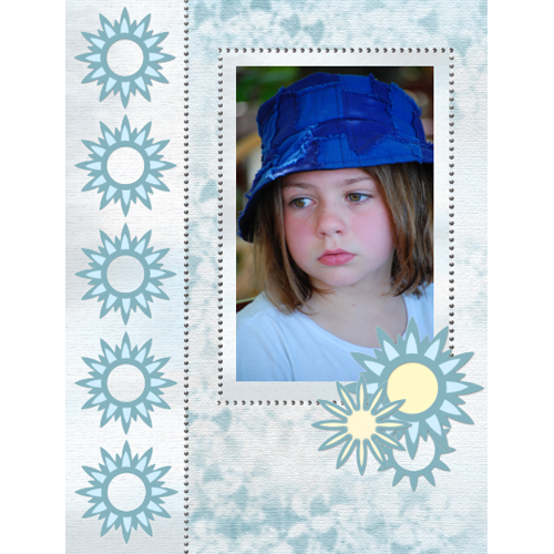 "Scrapbook template ""Silver Dreams #19"" in ""Silver Dreams"""