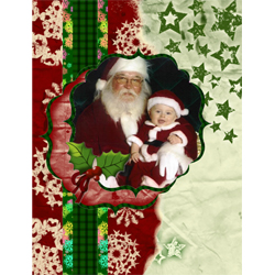 "Scrapbook template ""Christmas 09 #11"" in ""Christmas Scrapbooking"""
