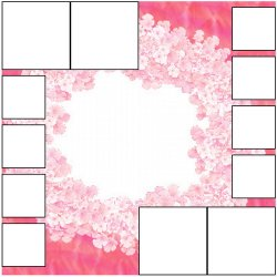 "Scrapbook template ""Pink (backgrounds) #22"" in ""Backgrounds"""