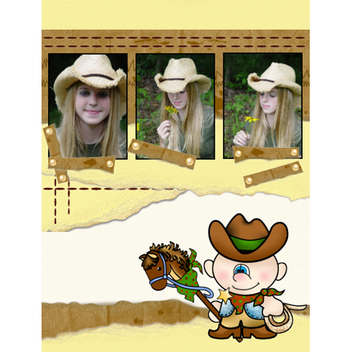 "Scrapbook template ""Wild West #03"" in ""Travel"""