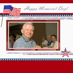 "Scrapbook template ""Memorial Day #28"" in ""Memorial Day"""