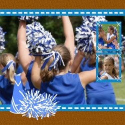 "Scrapbook template ""Cheerleaders #12"" in ""Cheerleaders"""