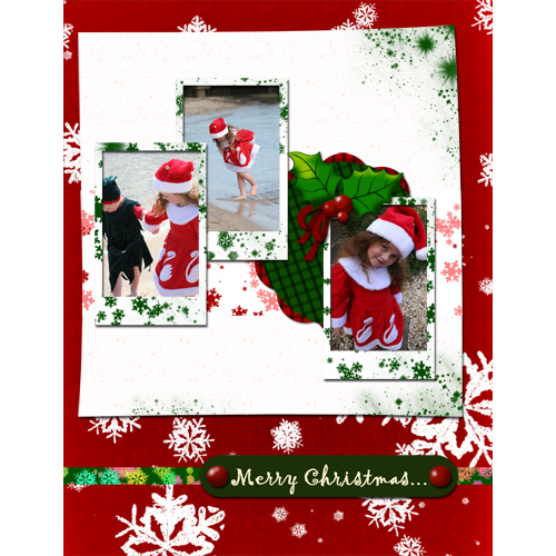 "Scrapbook template ""Christmas 09 #07"" in ""Christmas Scrapbooking"""