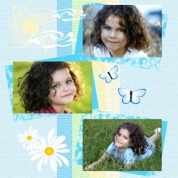 "Scrapbook template ""Summer #10"" in ""Summer Vacation"""