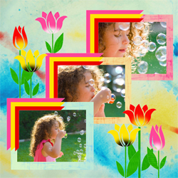 "Scrapbook template ""Spring #23"" in ""Spring"""